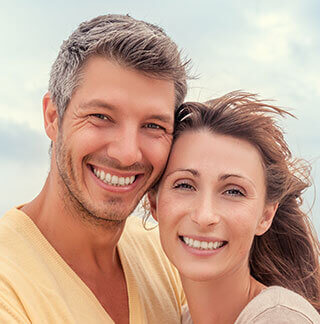 older couple have nice teeth a a result of cosmetic dentistry